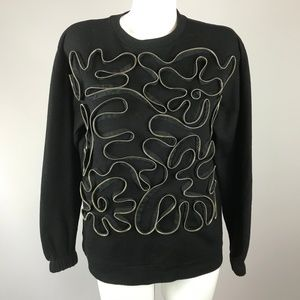 Stella McMartney Black Zipper Embellished Sweater